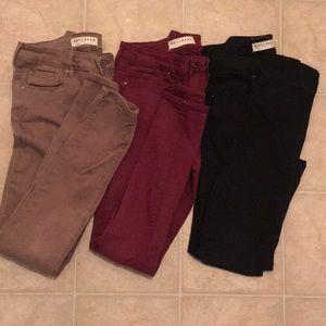 Bullhead Demin Jeans Black, Burgundy, khaki Sz. 5